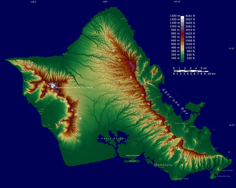 Oahu SRTM.JPG